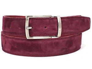 Paul Parkman  Men's Purple Suede Belt Hand Made