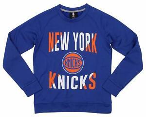 Outerstuff NBA Youth/Kid New York Knicks Performance Fleece Crew Neck Sweatshirt