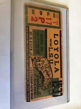 1937 LSU Tigers Football Ticket Vs Loyola