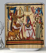 Egyptian Archer Art Fabric Shower Curtain 70x70 w/ Hooks Ancient Egypt