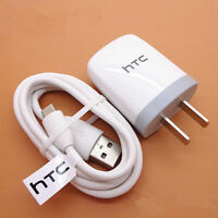 AUTHENTIC HTC OEM RAPID HOME CHARGER TRAVEL AC POWER ADAPTER USB CABLE SYNC WIRE