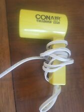 Compact Folding Yellow Conair Vagabond 1250 Hairdryer Travel