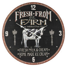 Farmers Market Wall Clock Rustic Vintage Shabby Chic Style