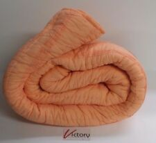 New Pleated Quilt Comforter Full/Queen Pillowfort Peach Salmon Orange 88 x 88 in