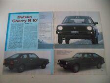 PROVA QUATTRORUOTE anno 1980 DATSUN CHERRY N 10