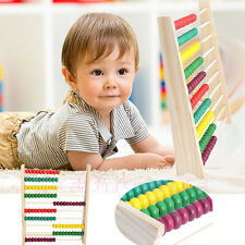 10 Beads Wooden Abacus Colorful Counting Number Kid Math Learning Teaching Toy