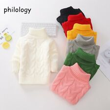 boy girl thick Knitted bottoming turtleneck shirts high collar pullover sweater