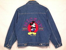 Mickey Unlimited Jerry Leigh embroidered denim jean jacket / mens M / VGC / sb24