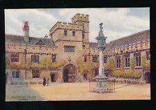 Oxon Oxfordshire OXFORD Corpus Christi Artist QUINTON c1930/40s? Salmon#1348 PPC