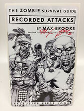 Zombie Survival Guide Recorded Attacks Exclusive First Look Signed by Max Brooks