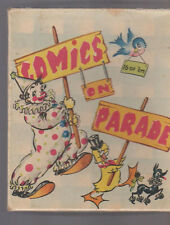 Comics on Parade Greeting Cards Empty Box 1950s Clown Duck Poodle Bluebird