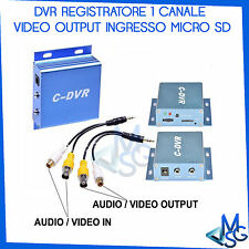 Mini dvr 1canale ch portatile Audio-Video in out registra su Scheda SD TF C-DVR