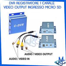 Mini dvr 1canale ch portatile Audio-Video in out registra su Scheda SD TF C-DVR