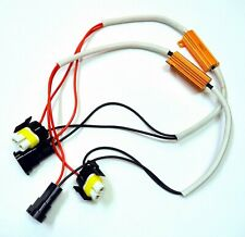 Wire LED Resistor Canceler Error Decoder S H11 Fog Light Bulb Flickering Stop