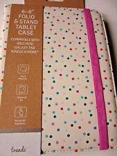 brand new spot 6-8 inch folio stand tablet case ipad mini galaxy tab kindle and