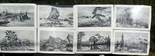 Lot - 20 Lloyd Harting Pencil Sketch Place Mats [Vhtf] (Vguc)