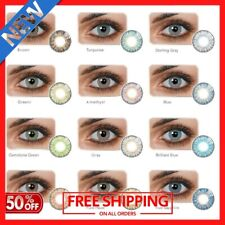 Color Contacts Lenses NEW Yearly For Dark eyes cases Lens Case Christmas Gift 🎅