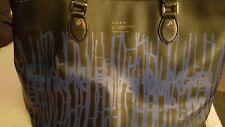 L.A.M.B. Gwen Stefani Black & Blue Large Logo Tote