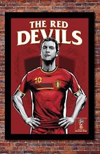 2018 World Cup Soccer Russia | TEAM BELGIUM Poster | 13 x 19 inches