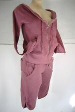 "New Womens Small Quiksilver ""Aurelie"" Hoody Jacket Shorts Set Sweat Suit $136"