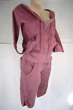 New Womens Small Quiksilver Roxy Aurelie Hoody Jacket Shorts Set Sweat Suit $136