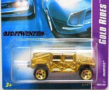 HOT WHEELS 2007 GOLD RIDES HUMVEE #03/04 W+