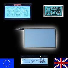 EL Panel 7cm x 11cm - Illuminated Backlight Gauge or Backlit Display eg spektrum