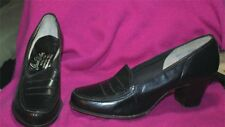 Vintage Grace Walker Black Leather Doll Pumps Shoes New 1950S 6