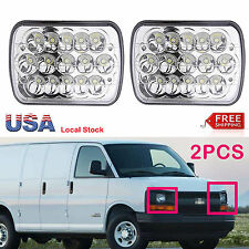"Qty2 7""X6'' LED Headlight Hi Lo Beam For Chevy Express Cargo Van 1500 2500 3500"