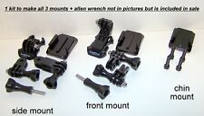 Genuine GoPro Helmet Front, Side, and Chin mount complete kit all gopro cameras