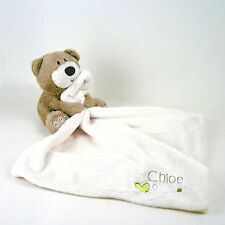 Personalised Embroidered Comforter Baby Blanket Plush Teddy Soother