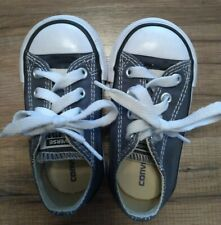 CONVERSE ALL STAR Dark Blue Canvas Low Infant Toddler Shoes Size 5 boys girls
