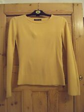 Yellow Scoop Button Jumper Size 8
