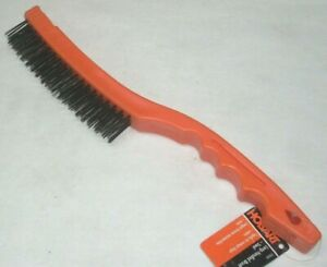"""Hobart 770101 Plastic Long Handle Wire Brush Steel Wire 4 Col x 19 Row 13"""" Long"""