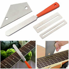 More details for 4pcs guitar luthiers repair tool kit fret crowning file leveling grinding tools