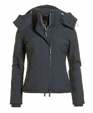 New Womens Superdry Hooded Sherpa Quilted SD-Windcheater Mid Charcoal