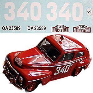 Volvo 544 Rallye Monte Carlo 1962 #340 Ewy Rosquist 1:18 Pegatina Adhesivo