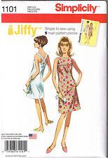 Easy Vintage 60s Retro Jiffy Sun Dress Cross Back Sewing Pattern 14 16 18 20 22
