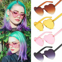 Women Love Sunglasses Heart Shape Frame Trendy Candy Colors Girl Sun Glasses