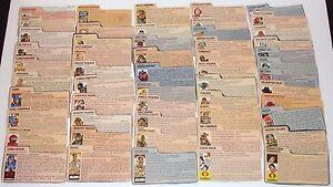 HUGE Collection Lot of 1980's G.I. JOE COBRA ARAH File Cards YOU PICK!