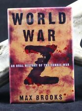 "World War Z Book Cover 2"" X 3"" Fridge / Locker Magnet. Max Brooks"