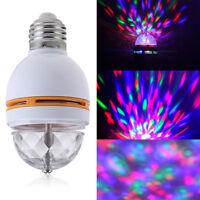 LED E27 RGB Glühbirne Lichteffekt Kristall 3W Beleuchtung DJ Disco kugel Party