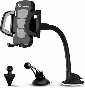 Car Phone Stand, 3 in 1 Vansky Universal Mobile Phone Holder