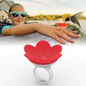 ZUMMR Hummingbird Ring Feeder, Diswasher Safe, Hand Feed Hummingbirds, Red