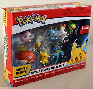 Pokemon MULTI PACK Battle 8 Figures Pikachu Scorbunny Vaporeon & More Brand New!