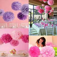 5Pcs Wedding Party Home Hanging Tissue Paper Pom Lantern Flower 10-20cm Ball 5HU