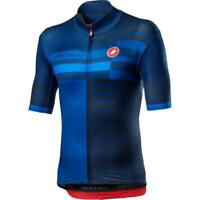 Castelli Mid Weight Pro Bicycle Cycle Bike Jersey Savile Blue