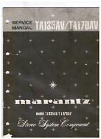 Marantz TA135AV / TA170AV Stereo Component System  Service manual p.