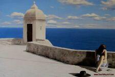 Chris Dellorco - Cote D'Azur - Greek Islands Giclee on CANVAS HS&#  Gallery COA