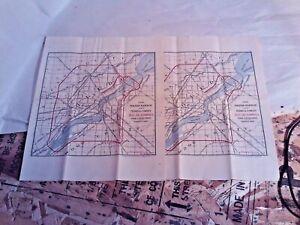 TOLEDO OHIO 1902 Vintage City Map LUCAS & WOOD COUNTY with letter (ephemera)